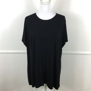 J. Jill Wearever Collection Solid Black Top 2X